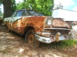 Thunderbird rusting away amongst the trees in the back of a roadside cafe somewhere on GA-140.
